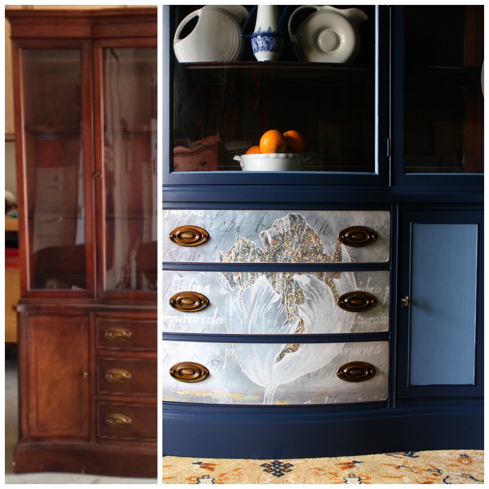 The Turquoise Iris Furniture Amp Art Navy Blue Hutch With