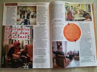 Majalah era muslimah pula mohon kisah disiarkan di majalah mereka dan saya manfaatkan peluang ini