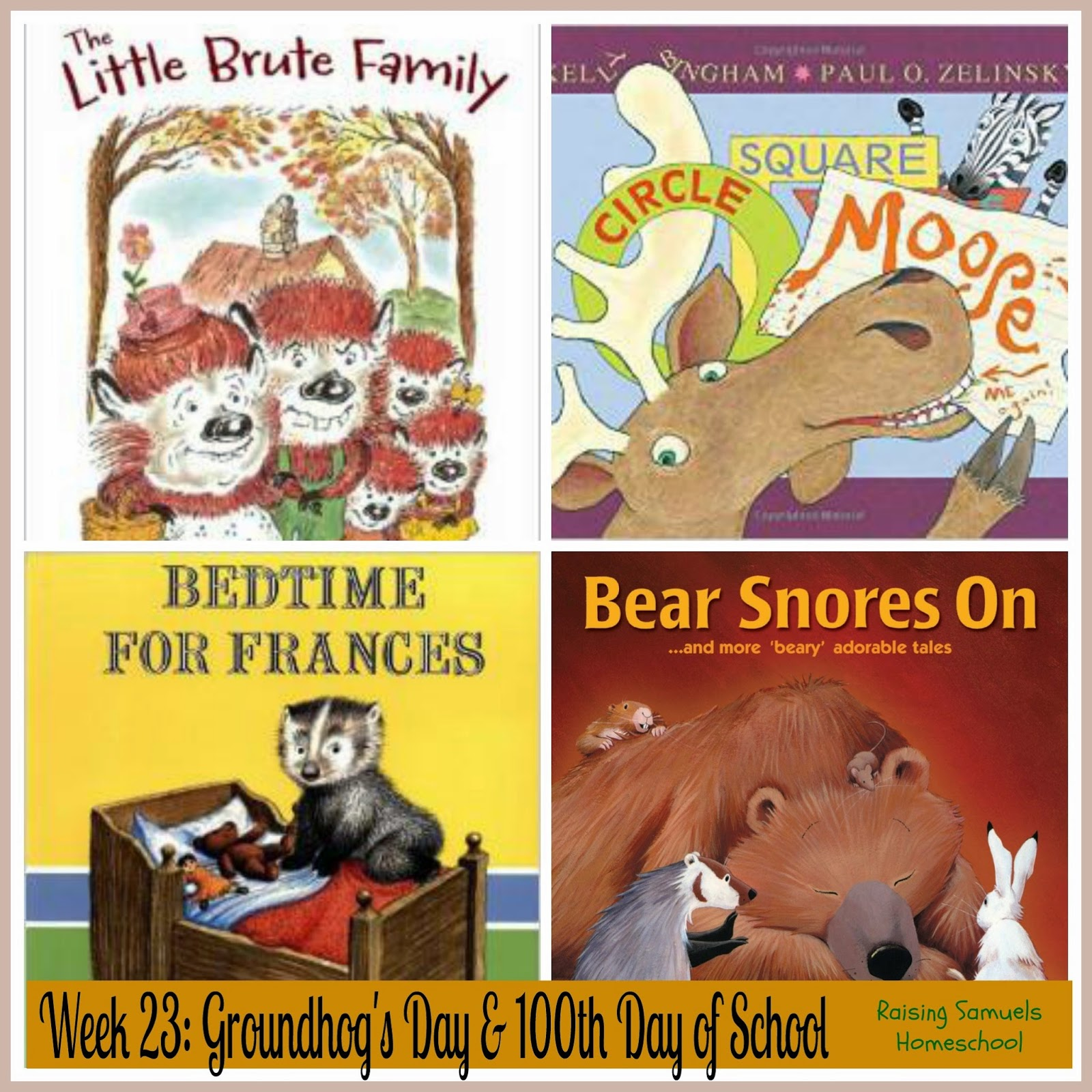 Groundhog's Day and 100th Day of School