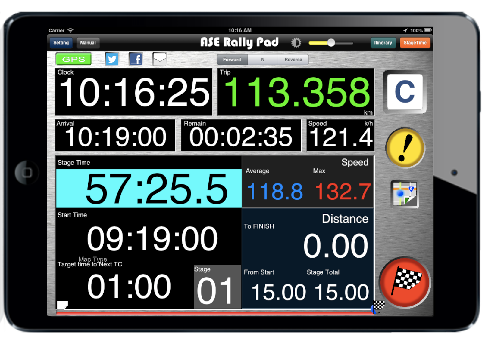 Ase Rally Monitor The New App For Ipad Was Released