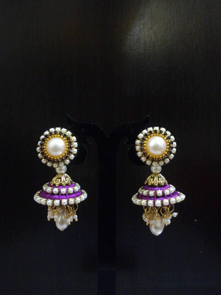 BV Creations: Silk Thread Earring New Designs