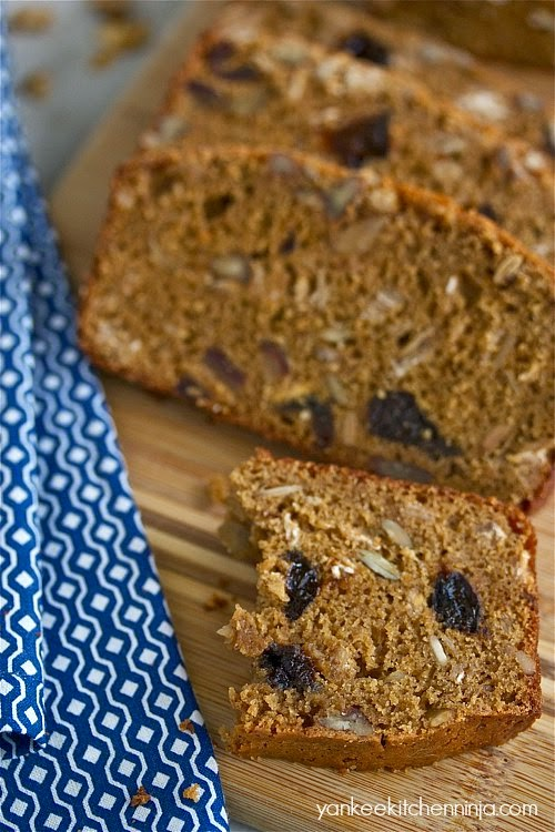 Healthier breakfast granola bread