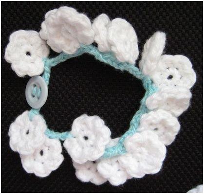 Crochet Flower Bracelet Tutorial Burak For