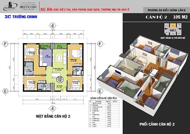 căn 105m chung cư 317 trường chinh