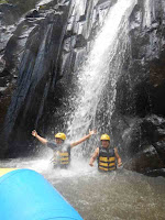 Waterfall at Ayung River rafting