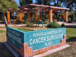 Cancer Survivors Plaza and sign