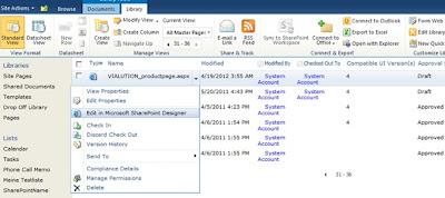 SharePoint Seiten Layout mittels SharePoint Designer modifizieren