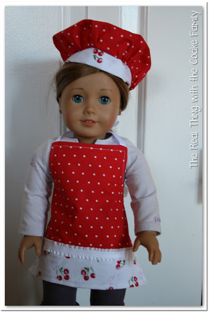 American Girl Doll Chef Set - a giveaway from #realcoake #AmericanGirlDoll #AGDoll #Sewing