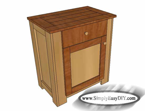 Simply Easy DIY: DIY: Bed Side Table with Drawer & Cabinet ...