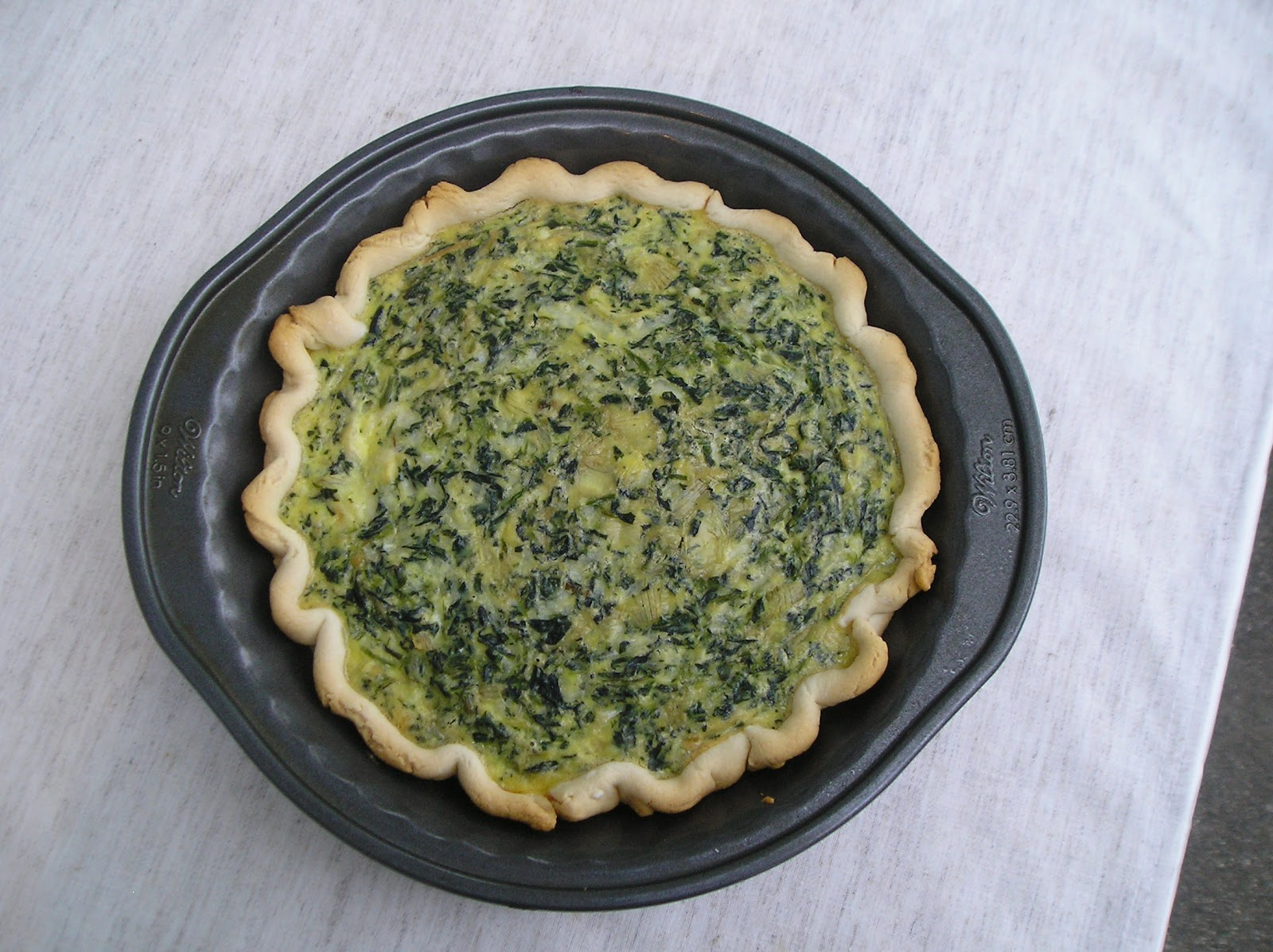 Spinach Artichoke Quiche ~ Edesia's Notebook