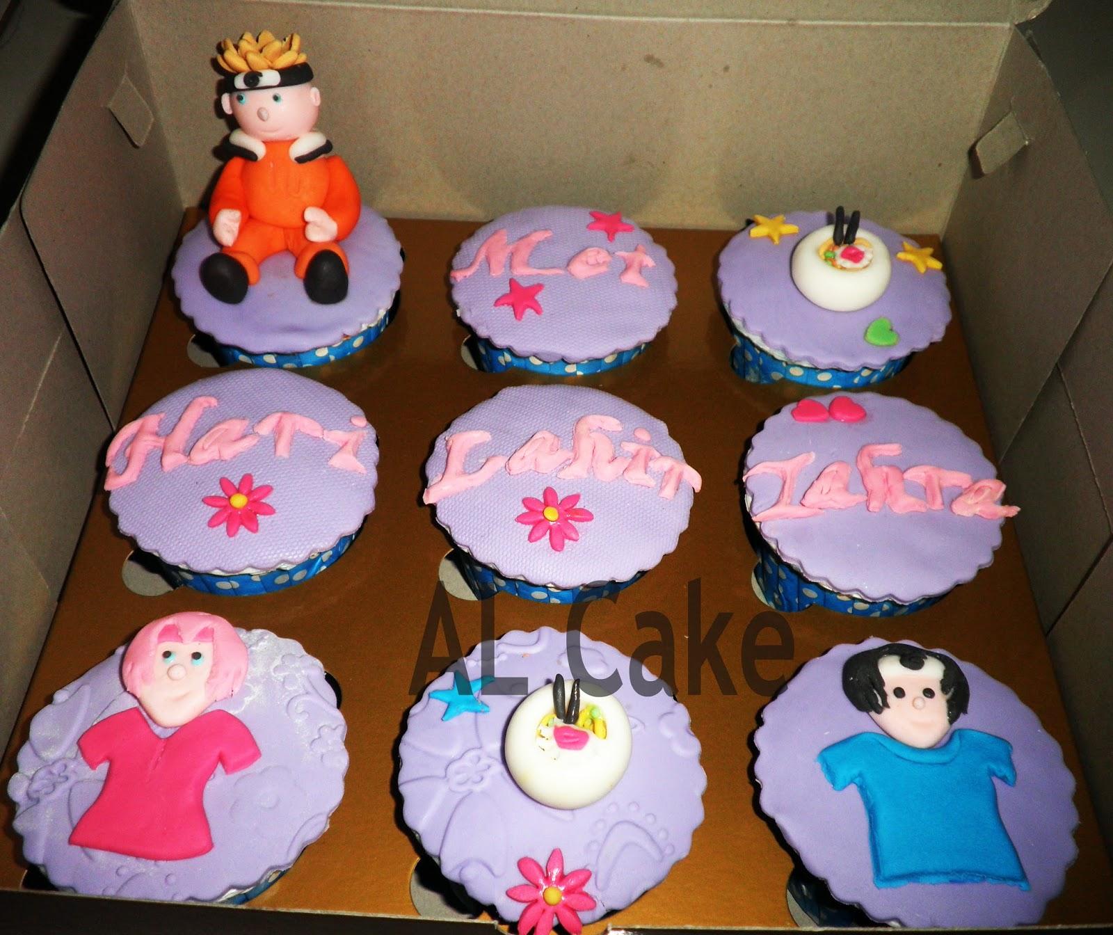 cupcake ultah tema naruto al cake