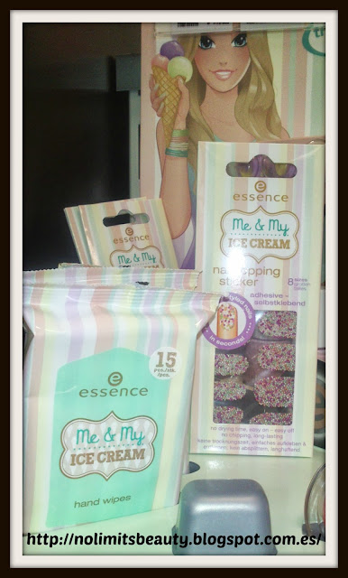 Essence Me & My Icecream - Hand wipes & Nail topping stickers