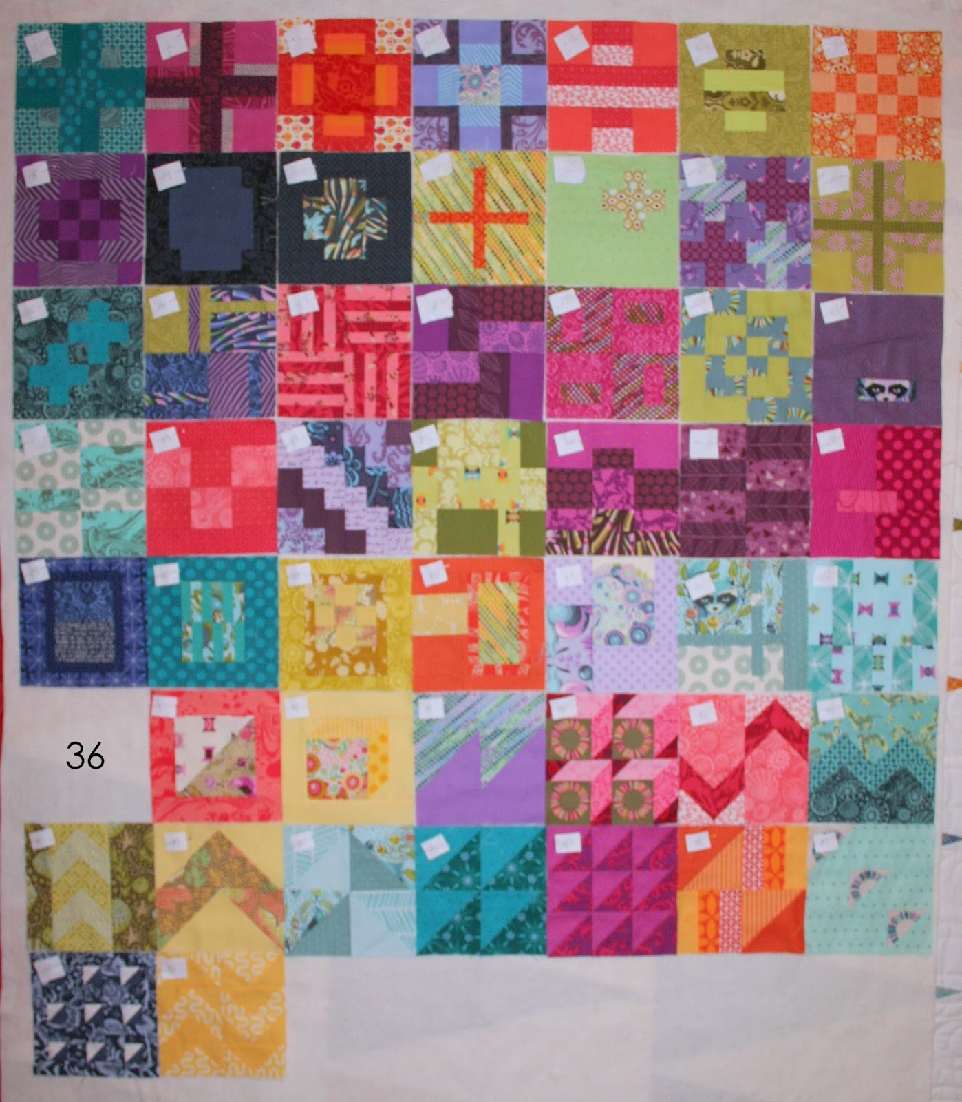 Design wall for quilt blocks : Crazy old ladies quilts on the design wall tula
