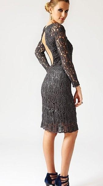 1. Платье с открытой спиной крючком. лирушечка.  Теги.  Это цитата сообщения.
