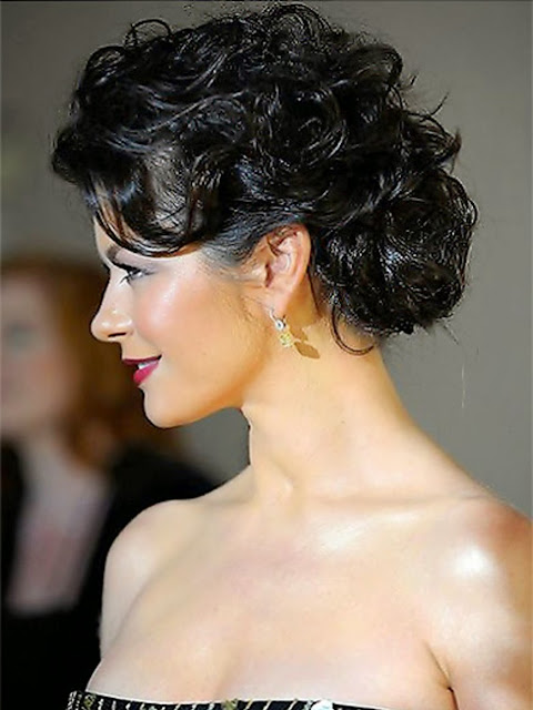 medium curly updo