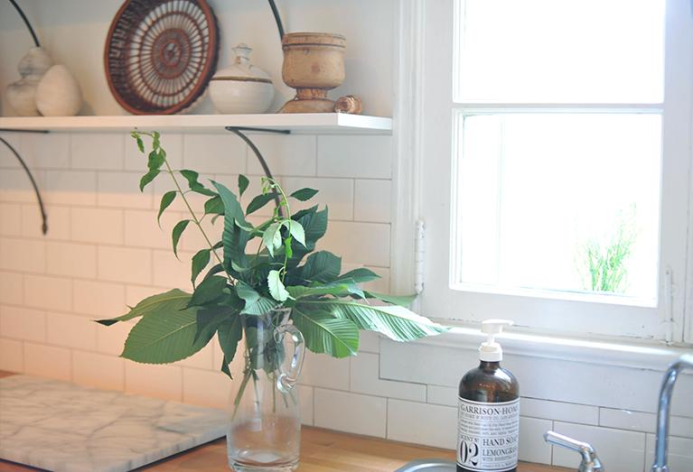 DIY Modern Kitchen renovation before and after subway tile