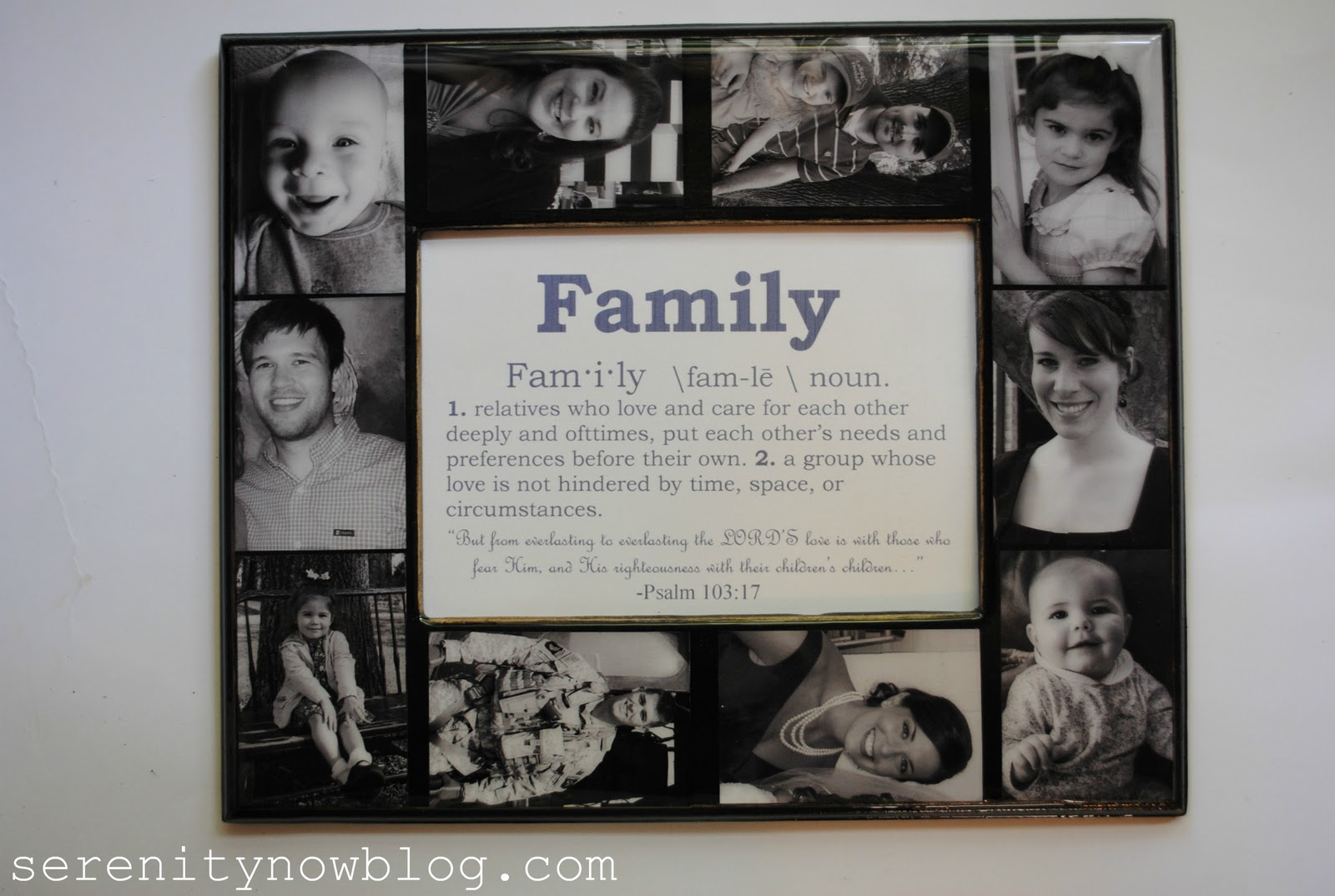 Family Collage Keepsake Frame With