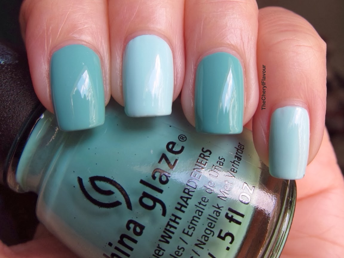 China Glaze At Vase Value vs China Glaze Aquadelic
