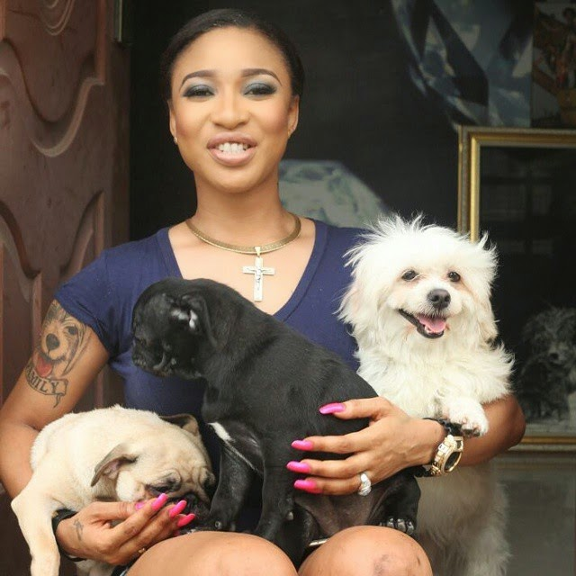 tonto dikeh visa application