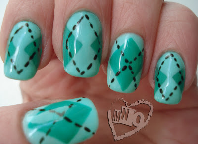 St. Patty's Day Argyle Plaid Patricks Nail Design.jpg