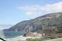 big sur hwy 1 driving cliffs beach view