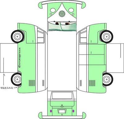 Как сделать из бумаги машину картинки схема