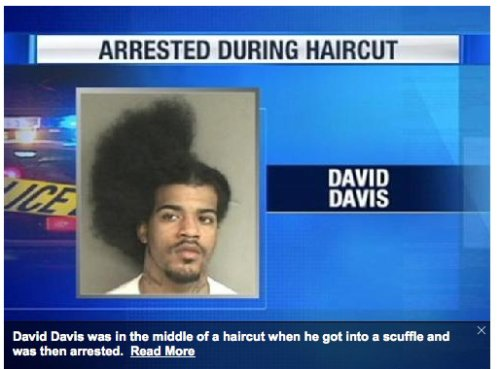Man Arrested During Haircut Makes Funny Mugshot