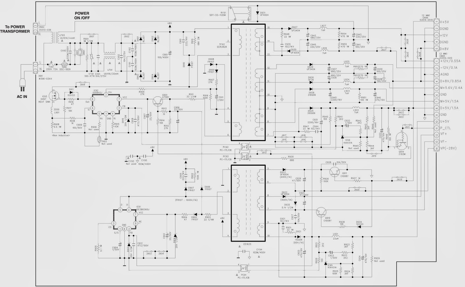 electro help  yamaha dvd-s2700 - power supply smps   schematic