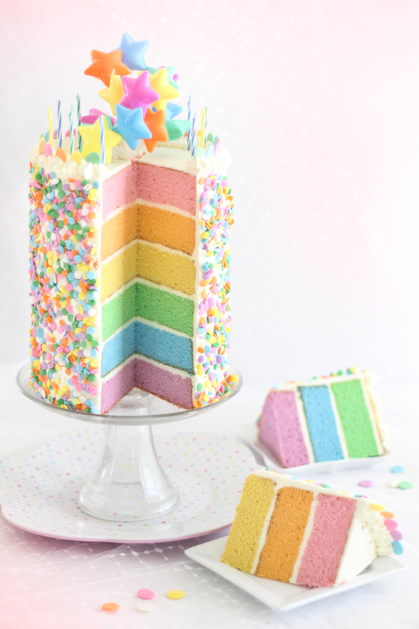 Pastel Layer Cake and a Blog Birthday Sprinkle Bakes
