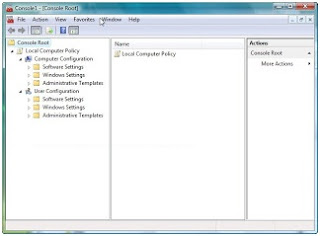 Mengaktifkan local group policy di windows vista