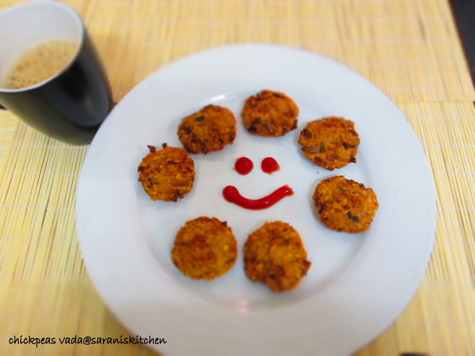 SARANI'S KITCHEN: Chickpeas vada - Good Tea time snack