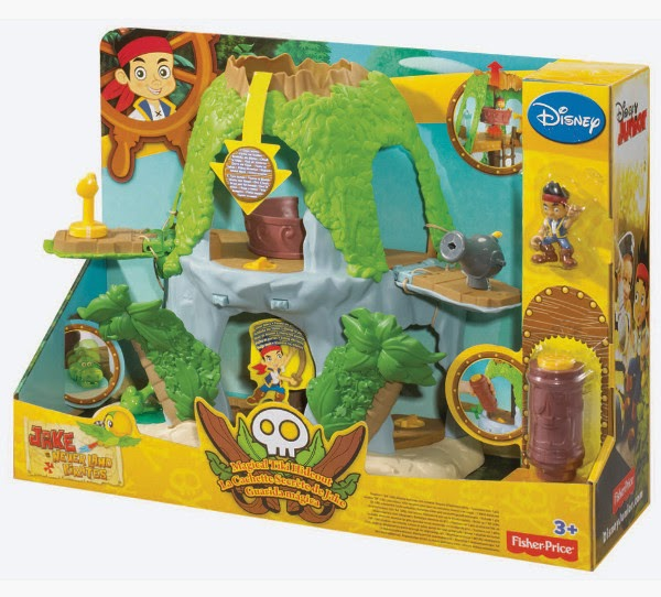 JUGUETES - Fisher-Price  DISNEY Jake y los Piratas de Nunca Jamás  Guarida Mágica  Producto Oficial | Mattel | A partir de 3 años