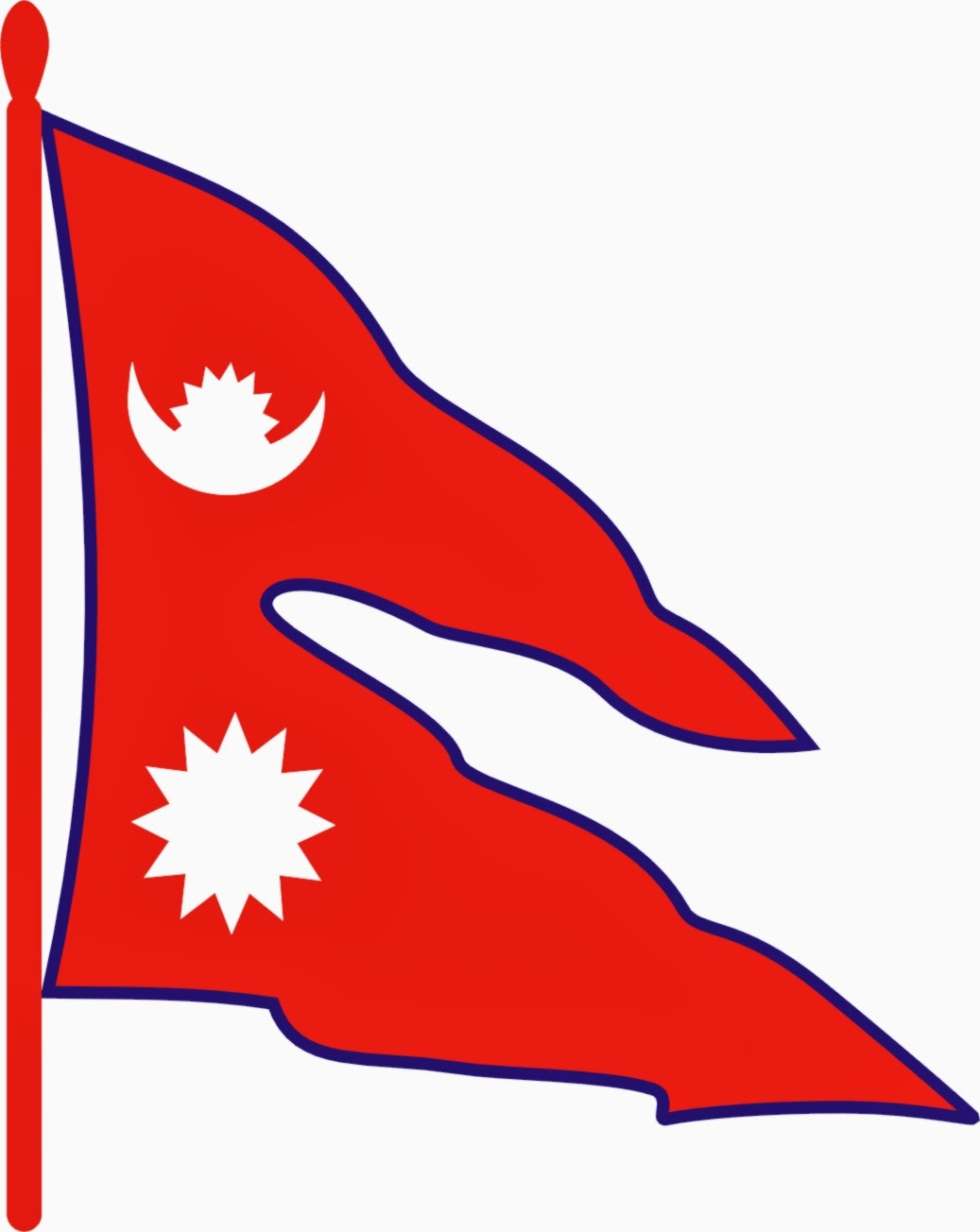 The National Flag of Nepal - Images of Nepal Flag | Chandra Thapa Blog\'s