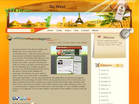 Go West Blogger Theme