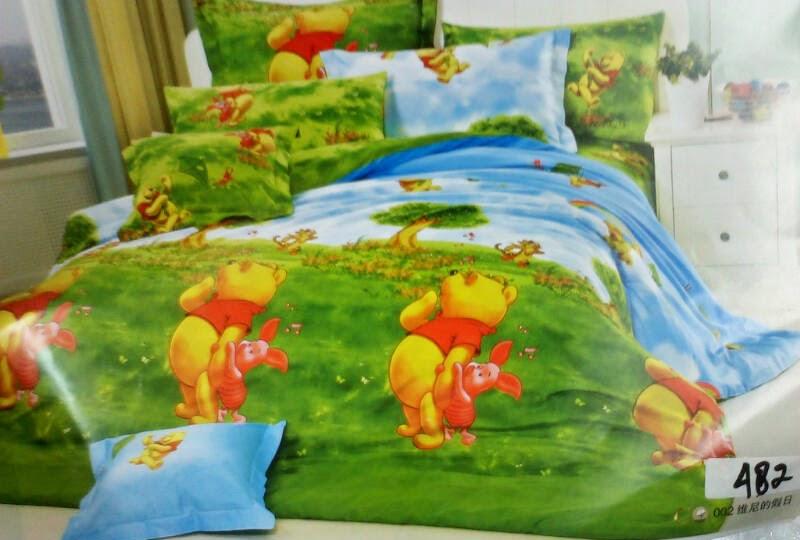 Sprei Anak Cantik Motif Winnie the Pooh