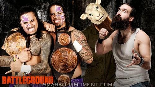 WWE Battleground 2-out-of-3 Falls New Tag Team Champions Luke Harper Erick Rowan