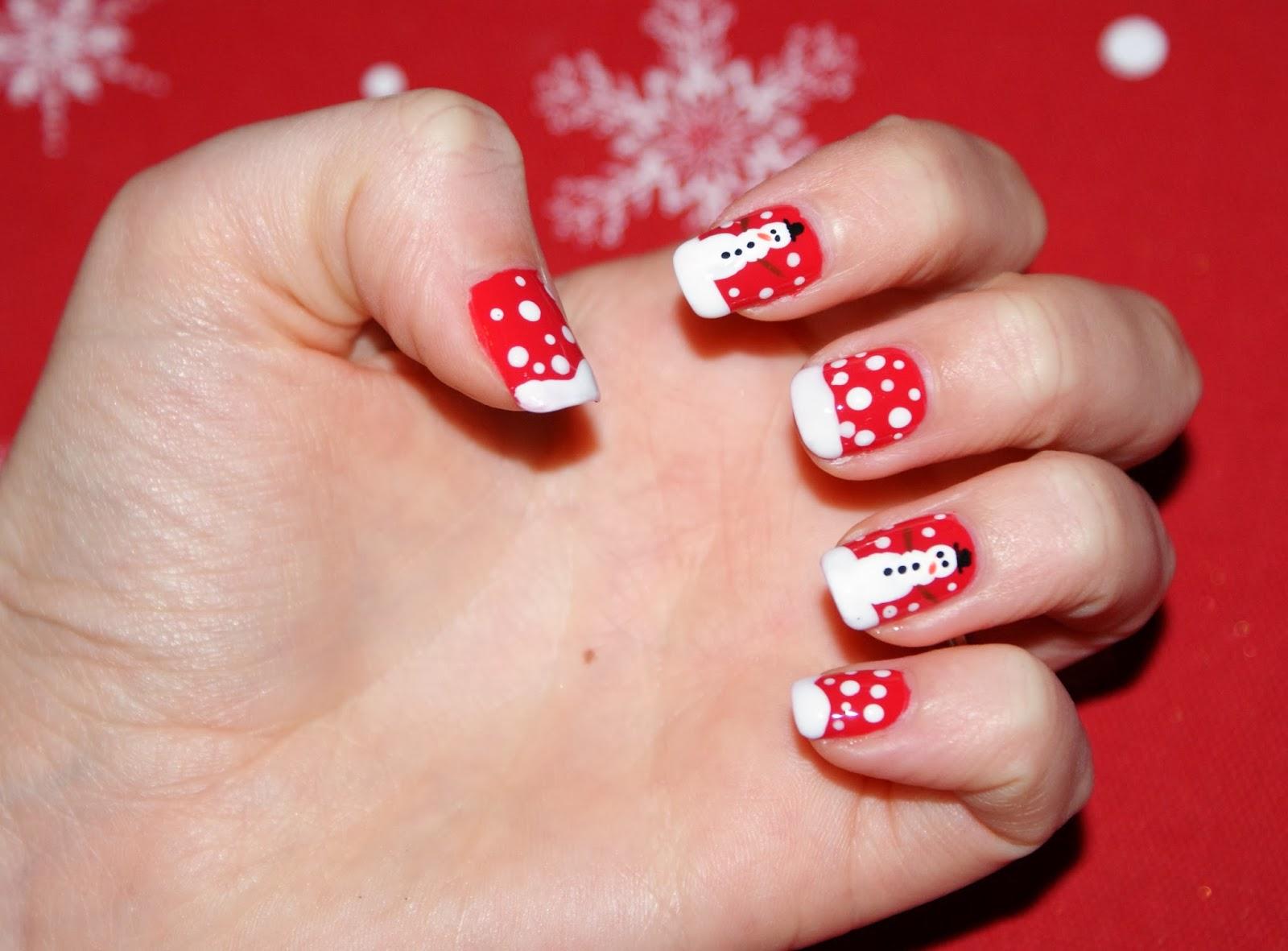 naildeesignz snowman nail art