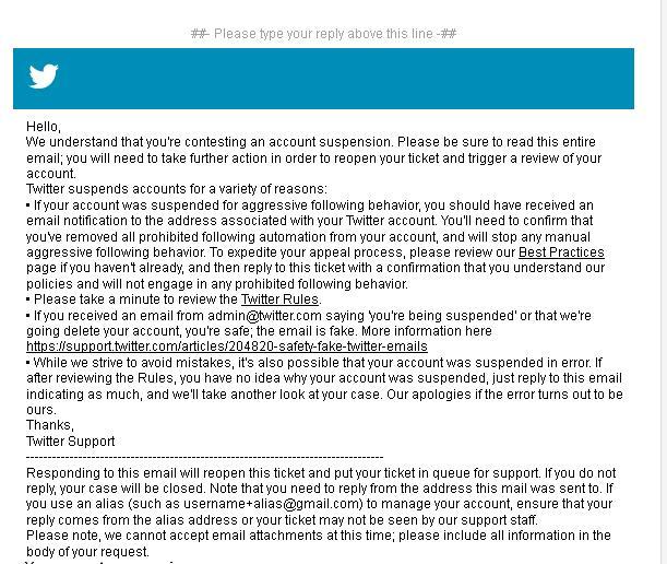 cara mengatasi suspended akun twitter