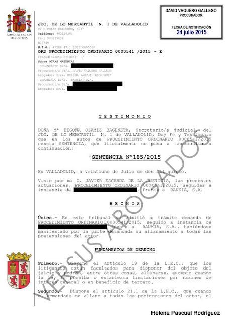 Entre c digos y leyes agosto 2015 for Bankia oficinas valladolid
