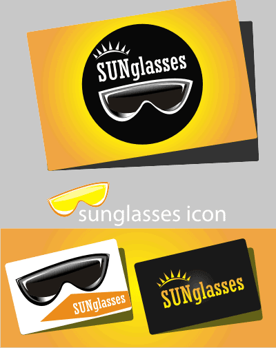 sunglass business card vector