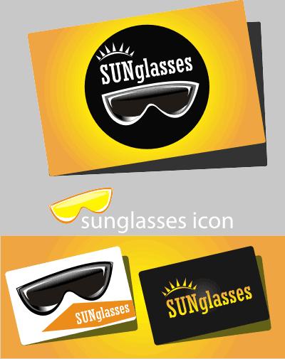 sunglass business card vector