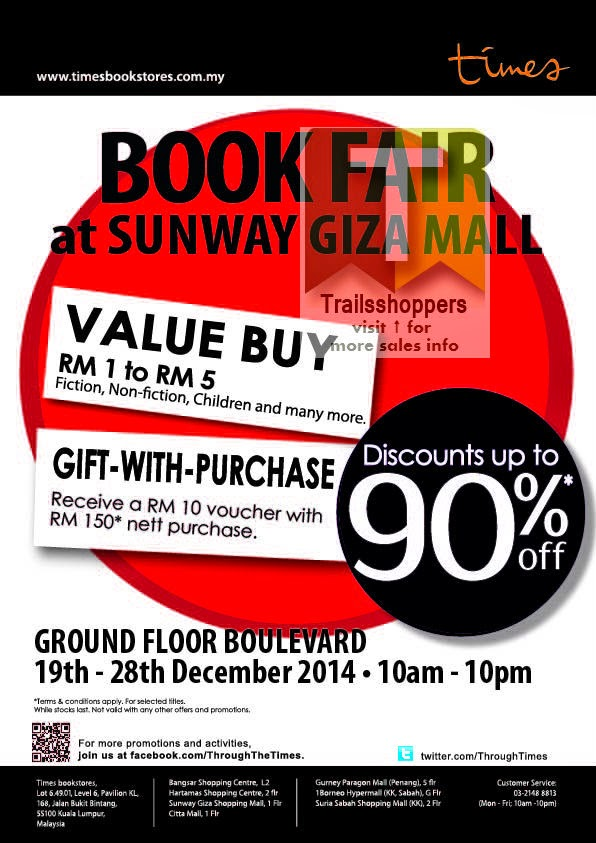 Visit Times Book Fair Sunway Giza Mall 2015
