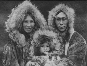 Fotografía de familia esquimal