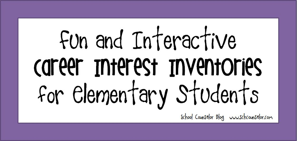 photograph about Interest Inventory for Middle School Students Printable called Higher education Counselor Website: Entertaining and Interactive Vocation Notice