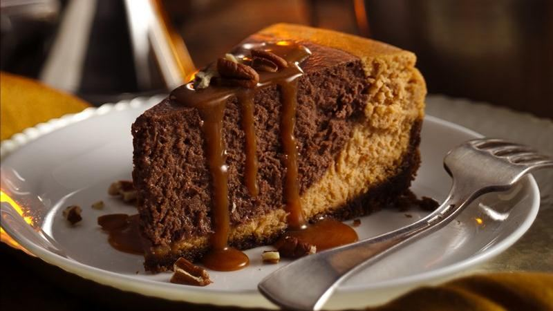 Dying for Chocolate: Chocolate Bourbon Pumpkin Cheesecake