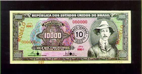 10.000 Cruzeiros - 10 Cruzeiros Novos