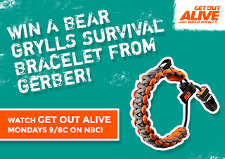 Enter to win a Bear Grylls Survival Bracelet, ends 8/25