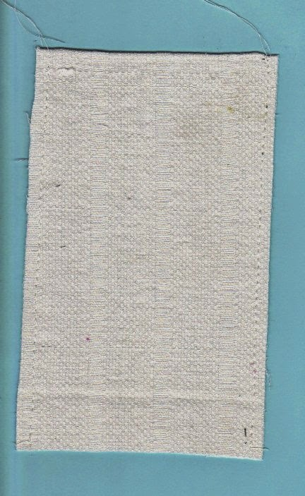 White cotton batting and fabric stitched together