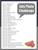 July Photo Challenge hosted by Sonya @ My Everyday Chaos