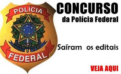Reabertos os editais de concurso para a Polícia Federal, com oferta de vagas para Perito, Delegado e Escrivão. Remuneração é de até R$ 14 mil.